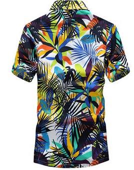 Merk zomer Hawaiian heren Hawaii strand shirt, mannen korte mouwen - Herenkleding - Foto 3