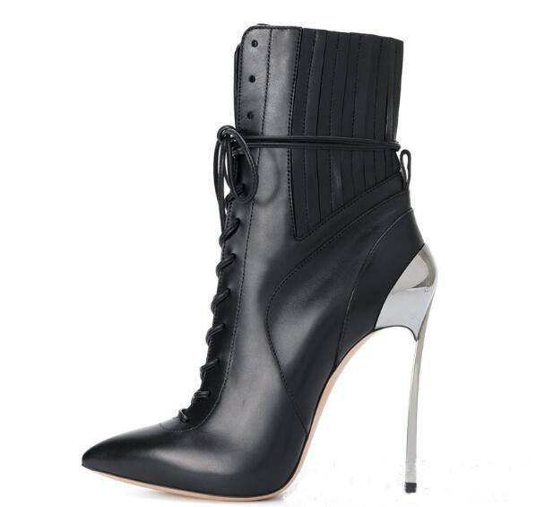 new style 22438 fb386 Herbst frauen schuhe Aus Echtem leder mode design spitz stiefeletten winter  quaste schwarz grau dünne heels stiefel 42