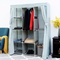 Giantex Portable Clothes Closet Storage Organizer Fabric Wardrobe Cabinet Clothes Rack Home Furniture HW56837