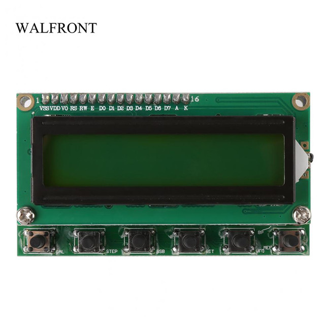 US $35 33 24% OFF|WALFRONT DDS Signal Generator 0~55MHz Digital Shortwave  Radio Electrical Test Voltage Frequency Meter DIY Kit Signal Generator-in