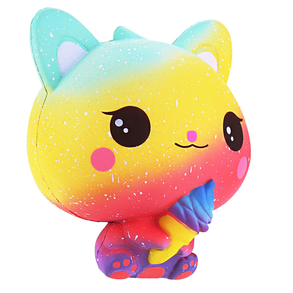 New Jumbo Kawaii Squishy 15CM Galaxy Cat Bread Scented Cake Kid Toy Gift Super Slow Rising Soft Squeeze Stress Reliever Toys