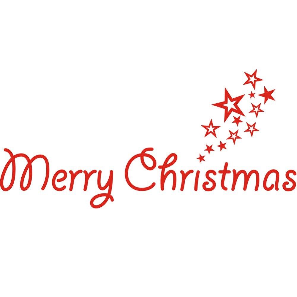 Frohe Weihnachten Aufkleber Vinyl Aufkleber worte Tür Dekoration ...