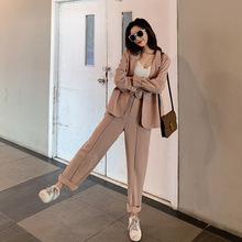 Set female 2019 spring new casual temperament suit trousers
