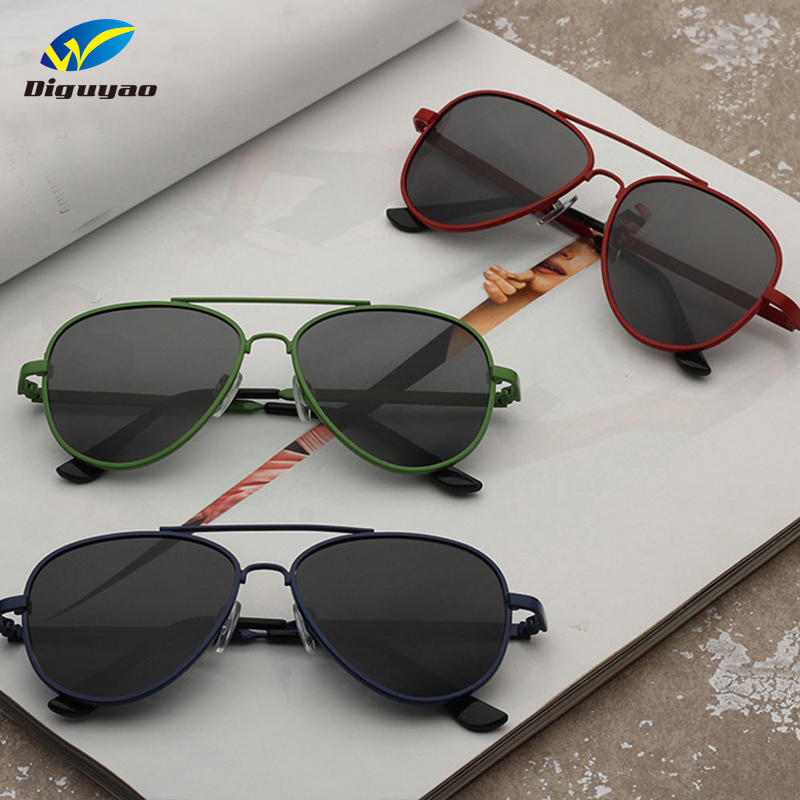 DIGUYAO 2018 Vintage Children pilot Sunglasses Metal Frame Polarized TAC Lenses Sun Glasses for Children Kids Eyewear