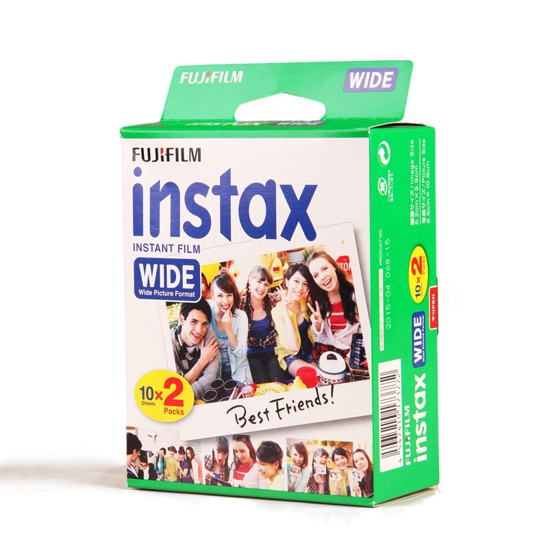 Genuine Fujifilm Instax Wide Film White 20 Sheets For Fuji Instant Polaroid Photo Camera 300/200/210/100/500AF Free Shipping genuine 50 sheets white fuji instax film fujifilm instax mini 8 film for 7 7s 8 9 50s 7s 90 25 share sp 1 sp 2 3 instant camera