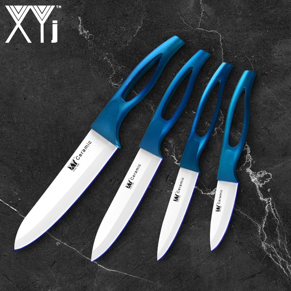 Blue Kitchen Knives: Aliexpress.com : Buy XYJ Brand Zirconia Blade Blue Handle