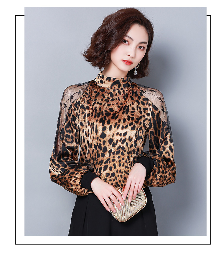 HTB1mixJbyLxK1Rjy0Ffq6zYdVXaG - Fashion womens tops and blouses sexy lace off shoulder top Leopard print chiffon blouse shirt long sleeve women shirts 2656 50