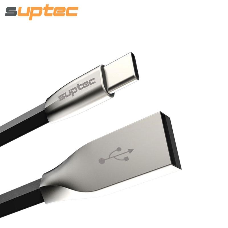SUPTEC USB Type C մալուխի արագ լիցքավորման Type-C տվյալների մալուխ Samsung S8 Xiaomi Mi5 Mi4C Mi6 Huawei Mate 9 P9 P10 Oneplus USB C