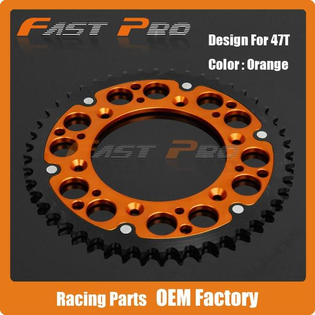 aliexpress : buy 47t cnc rear chain sprocket for ktm exc sx
