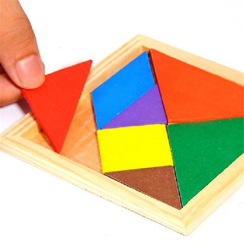 IG Game Brain Teaser Wooden Geometry Tangram Puzzle Shape Cognitive Intellectual Development Children's Toys Kids Toy Gifts