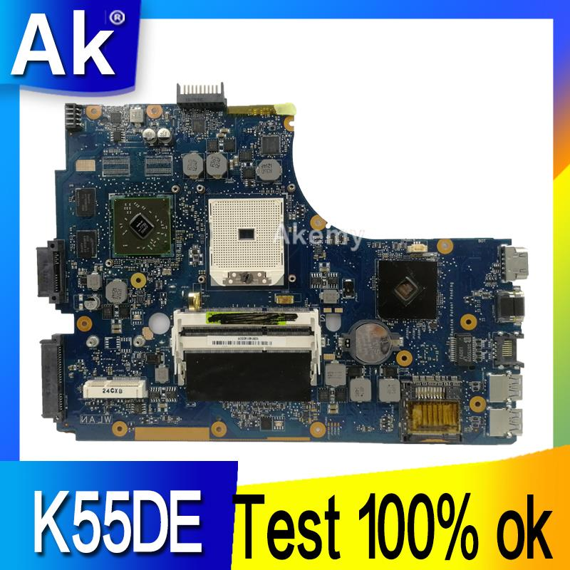 AK K55DE Laptop Motherboard For ASUS K55DE A55DR K55DR K55D K55N K55 Test Original Mainboard