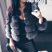 UPPIN шуба шуба из искусственного меха дешевая шуба высокого качества черная серая элегантная женская шуба из искусственного лисьего меха больших размеров Толстая теплая зимняя розовая Меховая куртка для девочек шуба