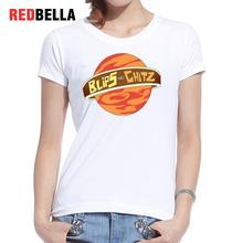 REDBELLA Hipster T Shirt Women Blips And Chitz Printed Rick Universe Space Polera Mujer White Cotton Tshirt 2017 Summer Clothing