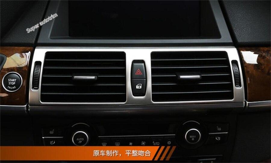 Accessoires Lapetus pour BMW X5 E70 2009-2013X6 E71 2010-2014 Central milieu AC climatisation sortie évent cadre garniture