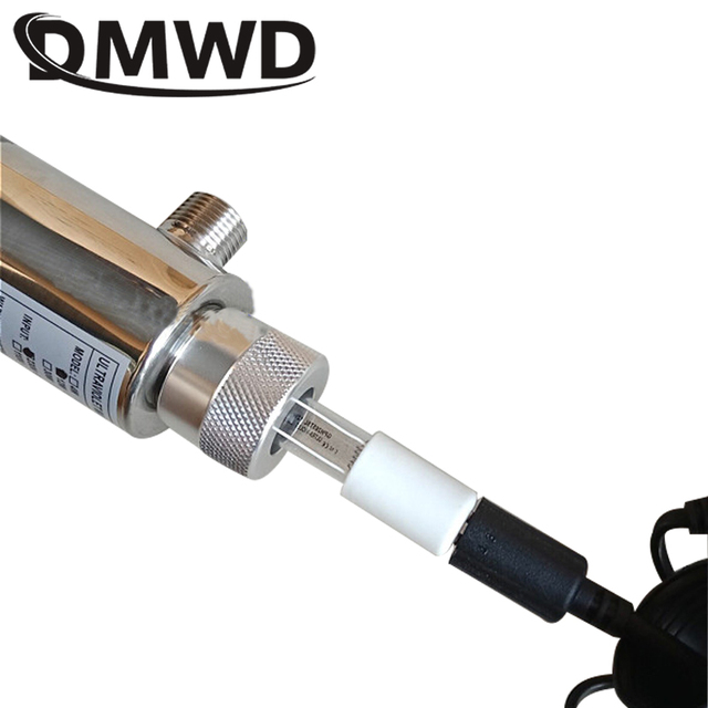 Dmwd uv water sterilizer ultraviolet tube lamp direct drink water disinfection treatment filter aquarium fish tank purifier 12w