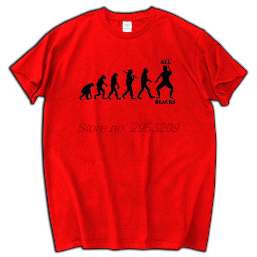 All black t shirt new zealand - All Blacks Evolution Men T Shirt Fashion Tee Kiwis New Zealand World