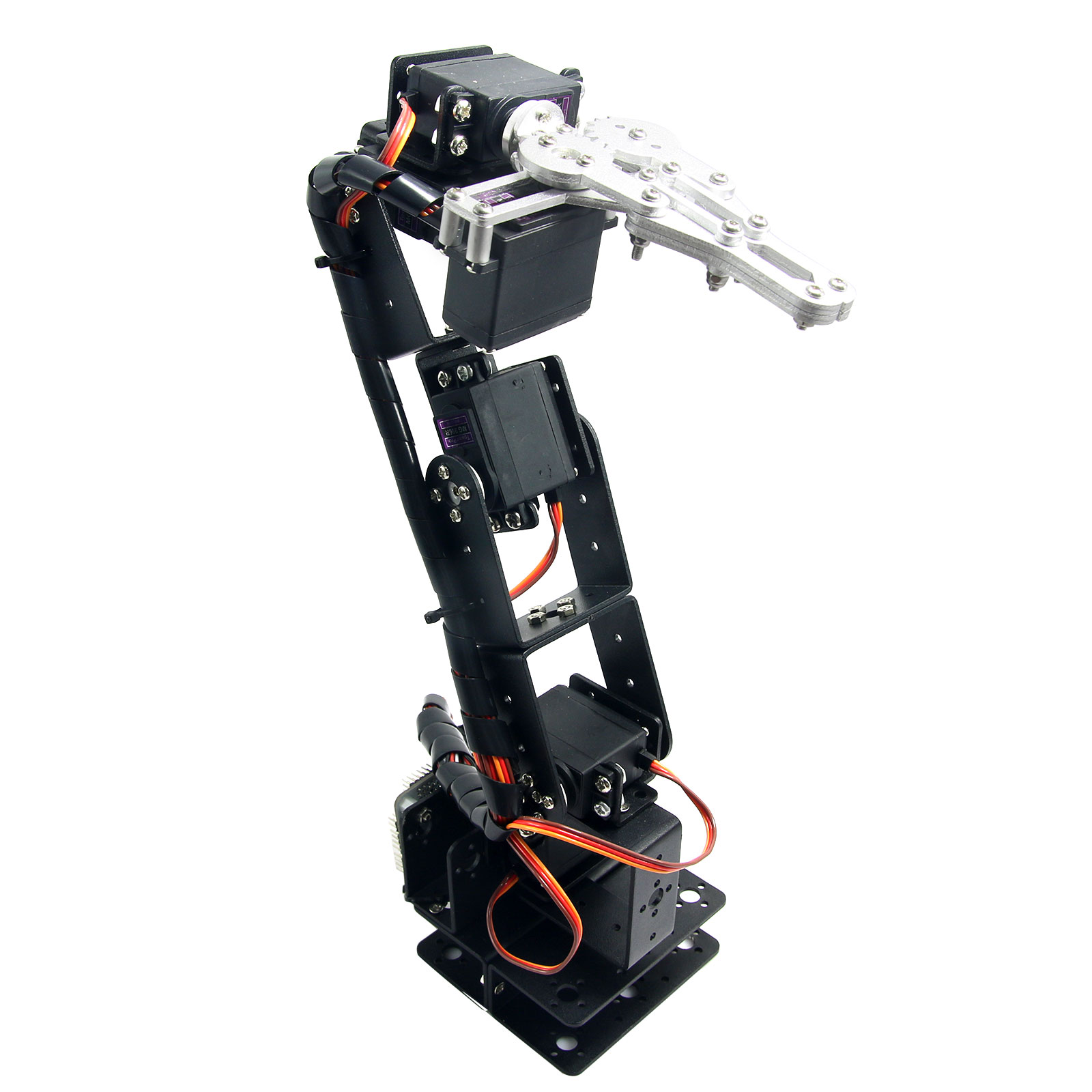 6D-3U-S Robot 6 DOF Aluminium Clamp Claw Mount kit Mechanical Robotic Arm & 6pcs MG996R Servos & Metal Servo Horn 4 dof wood robotic arm sg90 servo for arduino raspberry pie snam1500