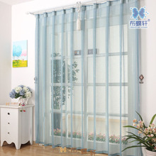 Attractive Modern Tulle Curtains For Living Room Linen Sheer Fabric Curtains Solid  Yarn Curtain Ready Made Transparent