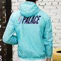Дворец Скейтборды Куртка Мужчины Женщины Ветрозащитный Ветровка Kanye West Yeezy Плащ Верхняя Одежда Дворец Bombe Homme Толстовка Пальто
