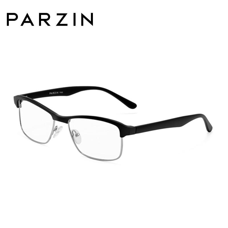 Parzin Tr 90 lunettes cadres hommes femmes myopie lunettes cadre Vintage lunettes cadre optique clair lentille lecture lunettes 5052 - 4