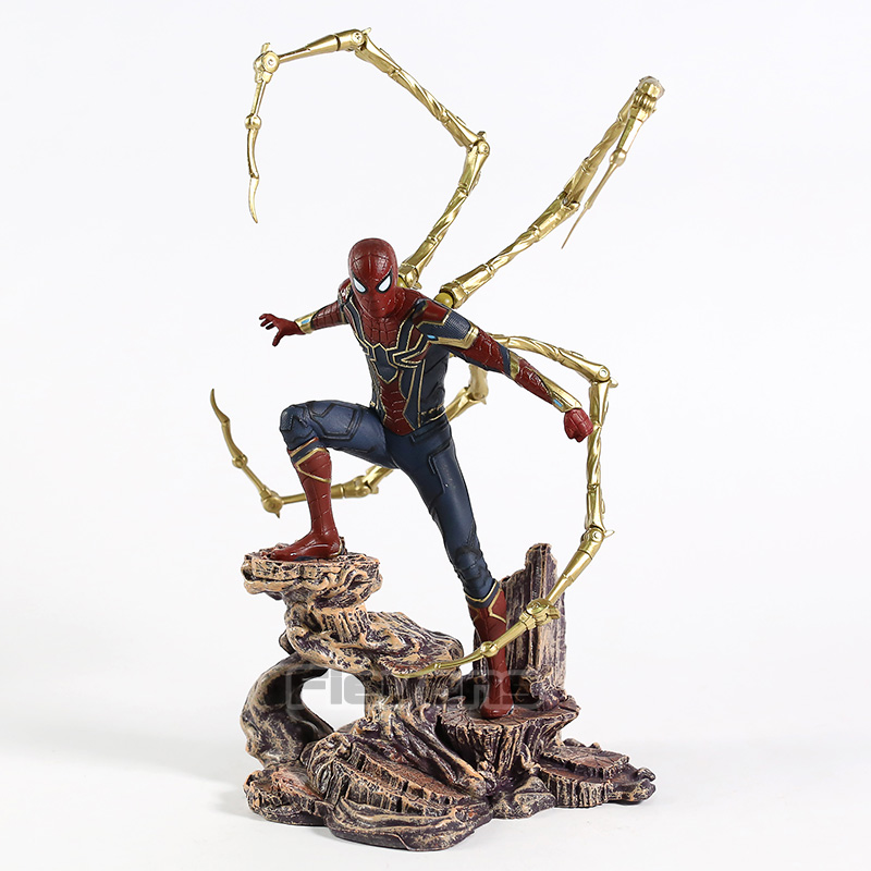 Diamond Select Toys Marvel Avengers Infinity War Iron Spiderman Statue PVC Figure Collectible Model Toy