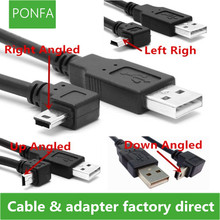 USB 2.0 Male to Mini USB B Type 5pin 90 Degree Up & Down & Left & Right Angled Male Data Cable 0.25m/0.5m/1.8m/5m 1m 3ft right angled 90 degree usb 2 0 mini male to a type male stretch data cable for ssd