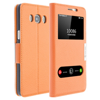 Luxury View Window Genuine Leather Cover Stand Case For Samsung Galaxy J5 2016 J5108 Phone Bag