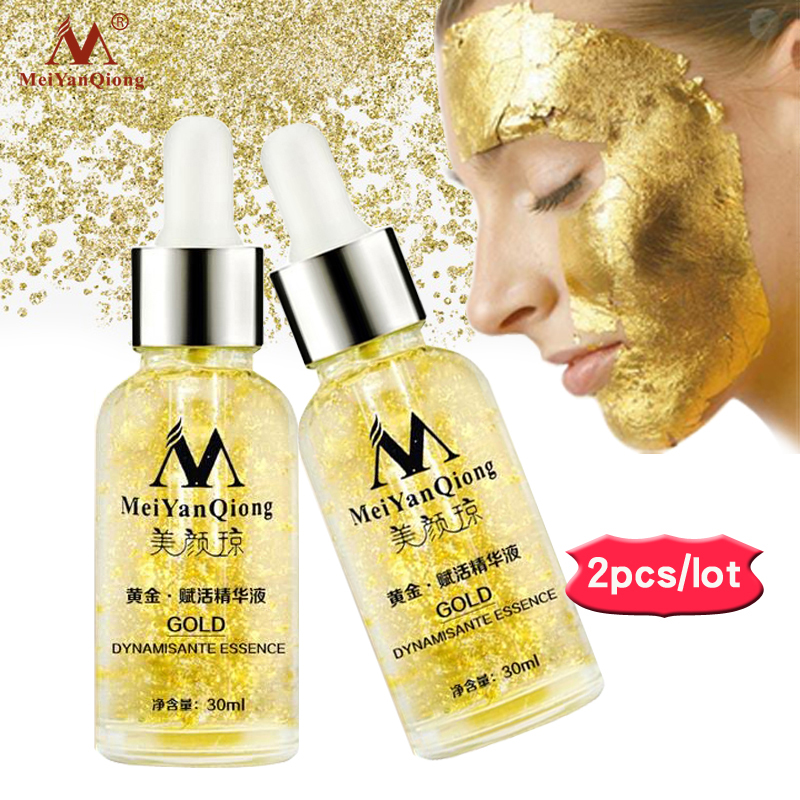 2Pieces/lot Pure 24K Gold serum Skin Care Deep Facial Anti Aging Intensive Face Lifting Firming Anti Wrinkle Whitening Skin 200ml ageless face nano gold anti wrinkle gel firming skin anti aging skin care products wholesale