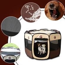 Jaula para perros y mascotas, cerca para perros, casa para gatos, jaula, tienda de juegos, transporte de perros, Arena plegable