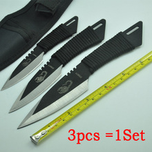 ( 3 in 1), Pocket Knife Fixed Blade Knife Survival Outdoor Hunting Camping Knives Knife tools + Sheath
