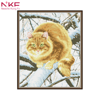 DIY 5D Diamond Painting Embroidery Pictures By Numbers Beaded Embroidery Mosaic Drawings Needlework The fat cat on the tree