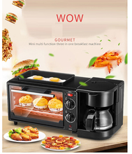 Electric Toaster coffee cooker egg fried three-in-one Breakfast maker  Automatic baker cooking fryer all in one solution