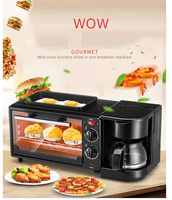 Electric Toaster coffee cooker egg fried three in one Breakfast maker Automatic baker cooking fryer all in one solution