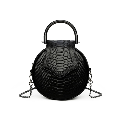 2018 novelty women small snake patter round chain bag femall mini cowhide tote handbag unique designer black one shoulder bag 2018 novelty genuine leather box shape crossbody bag for women small black cowhide one shoulder bag lady unique design handbag