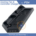 USB Dual Cooling Fans Charging vertical Stand Holder For PS4 merchine and dualshock 4 controller PS4 accessories