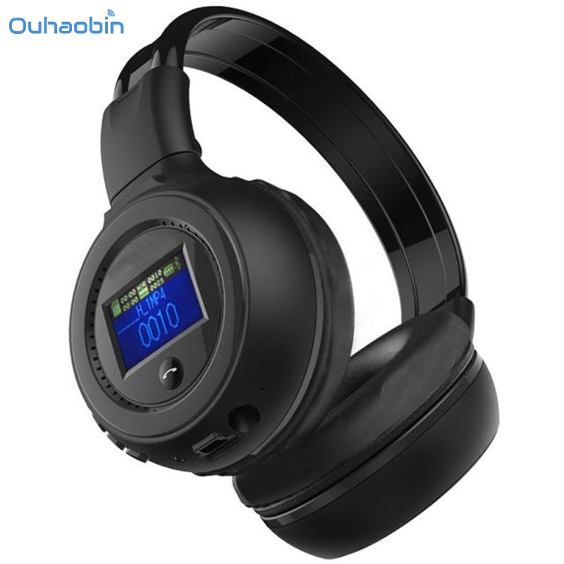 Ouhaobin Popular Bluetooth Headphone Black 3.0 Stereo Bluetooth Wireless Headset Headphones With Call Mic Microphone Charge Sep4 wireless service call bell system popular in restaurant ce passed 433 92mhz full equipment watch pager 1 watch 7 call button
