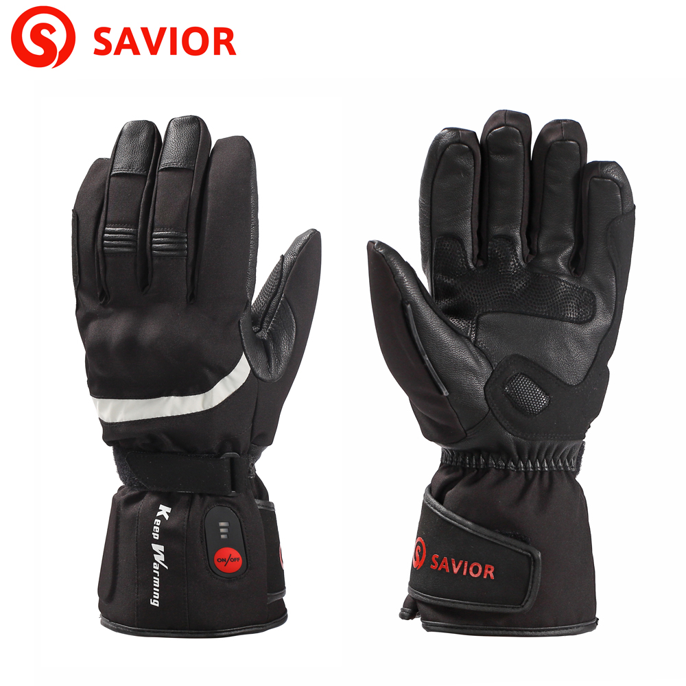 SAVIOR S-28B winter men's gloves motorcycle gloves skiing riding outdoor sports winter eletric heat gloves 3 levels control hot savior s 16 lithium battery electric heating winter gloves for skiing riding cycling low temperature men women
