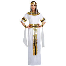 Halloween Costumes Ancient Egypt Egyptian Empress Cleopatra Queen Priest Costume Cosplay Clothing Dress for Women(China)