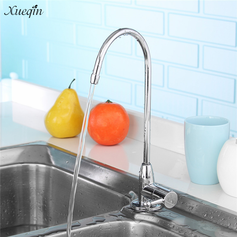 US $3.96 52% OFF|Xueqin Stainless Steel 360Degree Rotatable Water Purifier  Faucet Water Dispenser Tap Deck Mounted Kitchen Sink Faucets Long Arm-in ...