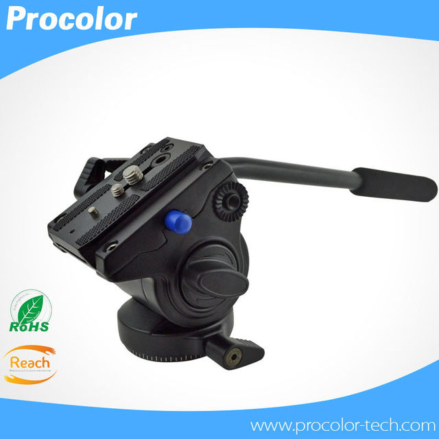 Professional Video Head Fluid Head Hydraulic Damping 3D Tripod Head Video Camera Monopod Head Max Load 4Kg