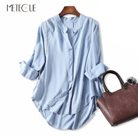 Casual Loose Linear Hollow Out Women Blouse V Neck Top Batwing Sleeve Shirt Cotton Linen Blends Womens Shirts Spring Summer 2018