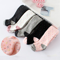 3pc/lot baby thick warmkeeping Tights Cotton Baby Girl Pantyhose Kid Infant Knitted Collant Tights Soft Infant Clothing