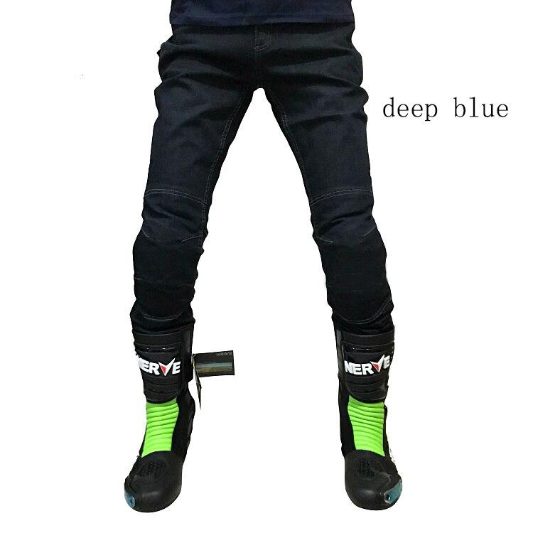 KOMINE WJ 737 Motorcycle Mens Jeans Off road Windproof Trousers Motorbike Outdoor Men Jeans Racing Knee protect pads pants Black
