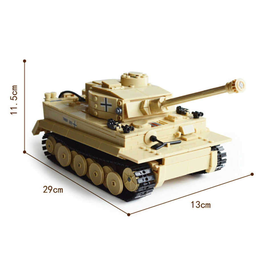 Военная Униформа пособия по немецкому языку Король тигр Танк строительные Конструкторы армии цифры Совместимость Legoed город технический кирпич развивающие