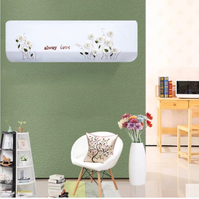 Indoor 1.5p Wall Mounted Air Conditioner Cover Decoration Hood Embroidered  Pastoral 80x20 / 86x20 /