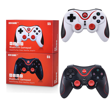 S5 Wireless Bluetooth Gamepad Joystick for Android IOS Game Smartphone Tablet PC Remote Gaming Controller