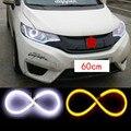 2x60 cm LEVOU Luz de Circulação Diurna Anjo Olho Mutável Turn Signal Luz de Estacionamento lâmpada Para mitsubishi lancer asx outlander
