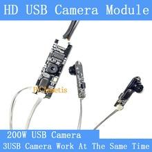 30fps industrial Mini HD Split display three images simultaneously USB camera module Video Surveillance Camera