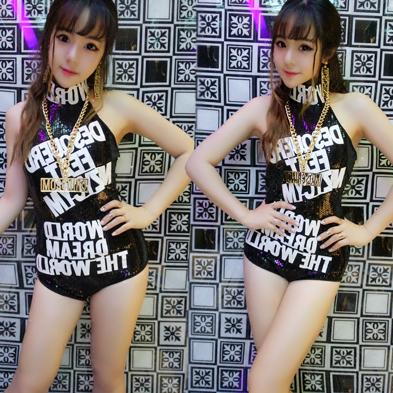 Ds costumes new Siamese night scene sexy atmosphere sequins female singers hip-hop jazz dance nightclub stage outfit