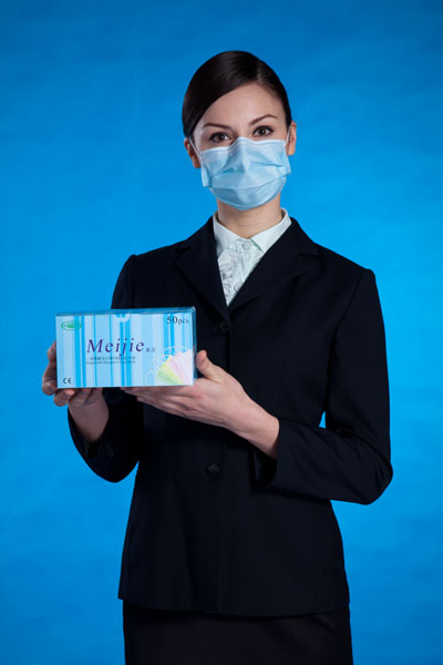 10 Piece Three Layers non-woven fabrics disposable gauze mask for Clean-room & Food & medicinal factory color blue and White 100pieces lot disposable disposable shoe covers blue pink non woven fabrics cleaning food industry medical hopsiptal room